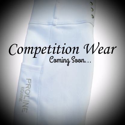 Competition Riding Leggings Breggings with Phone Pocket white